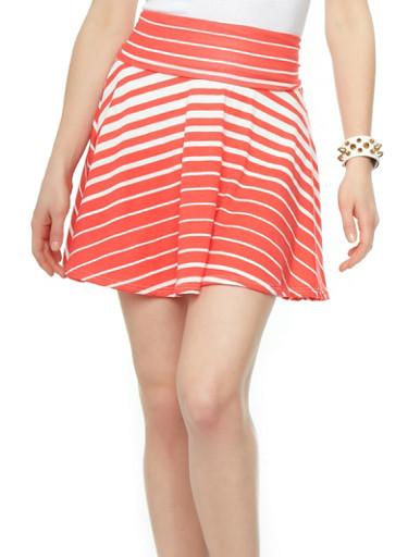high waisted striped skirt rainbow