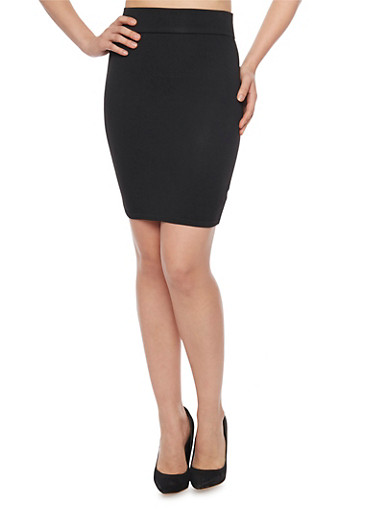 Mini Bandage Pencil Skirt,BLACK,large