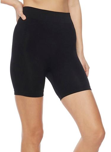 Solid Athletic Bike Shorts,BLACK,large