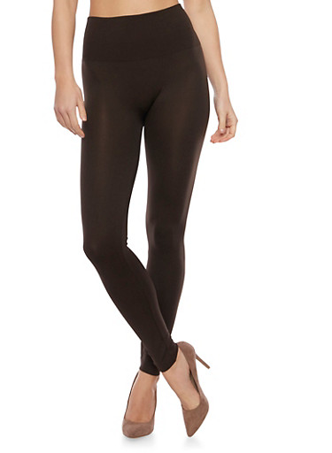High Waisted Leggings,DARK BROWN LEATHER,large