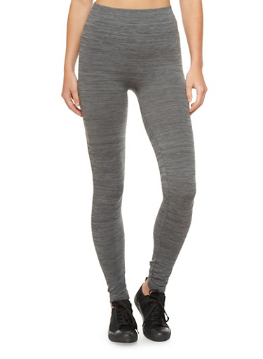 Basic Space Dye Leggings,CHARCOAL,large