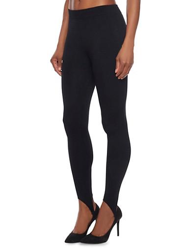 Fleece Stirrup Pants,BLACK,large