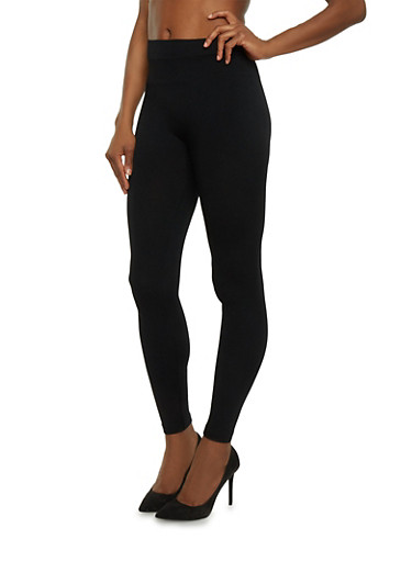 Solid Leggings,BLACK,large
