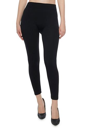 Fur Lined Leggings,BLACK,large