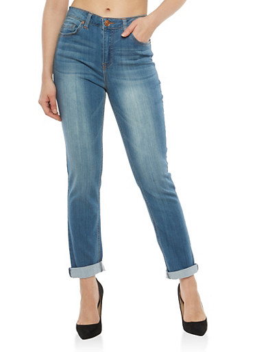 Almost Famous High Waisted Jeans,MEDIUM WASH,large