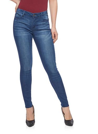 Cello Whisker Wash 5 Pocket Skinny Jeans,DARK WASH,large