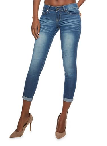 VIP Push Up Skinny Jeans,DARK WASH,large