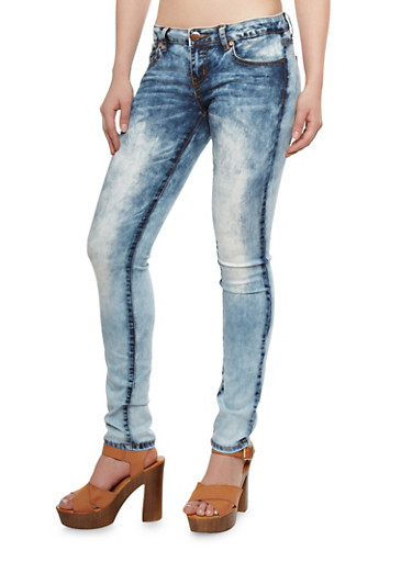 VIP Jeans Acid Wash Skinny Jeans With Dramatic Fade