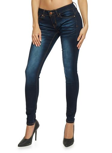 VIP Classic Whiskered Dark Wash Skinny Jeans,DARK WASH,large