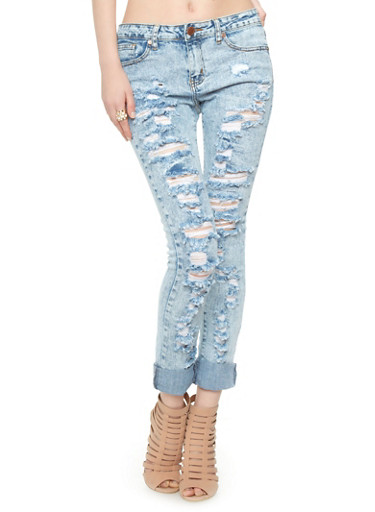 VIP Jeans Ripped Boyfriend Jeans - Rainbow