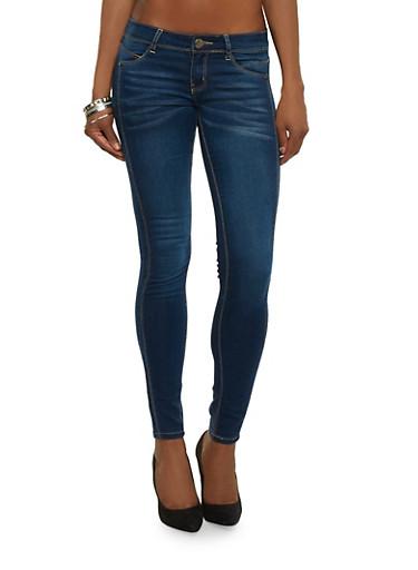 VIP Push Up Denim Skinny Jeans,DARK WASH,large