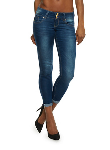 VIP Push Up Jeans in Skinny Fit,MEDIUM WASH,large