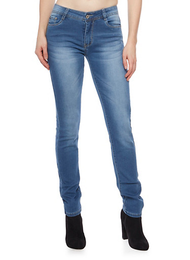 Skinny Jeans in Medium Wash,MEDIUM WASH,large