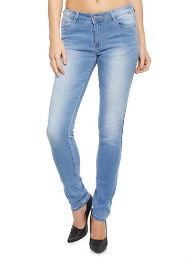 Stretch Jeans with Sandblasted Finish,MEDIUM WASH,large