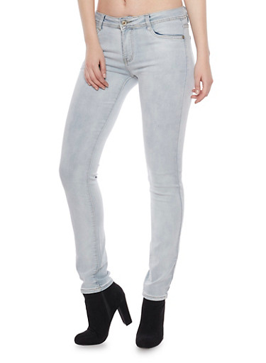 Cloud Wash Five Pocket Skinny Jeans,RINSE,large