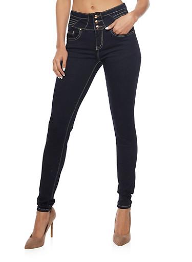 Dark Wash High Waisted Skinny Jeans,RINSE,large