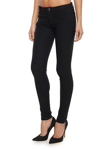 Shinestar Stretch Skinny Pants,BLACK,large
