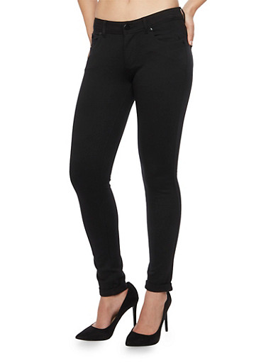 Shinestar Knit Jeans,BLACK,large