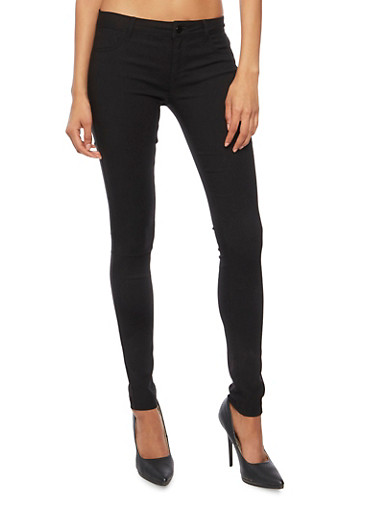 Jeggings in Stretch Knit,BLACK,large