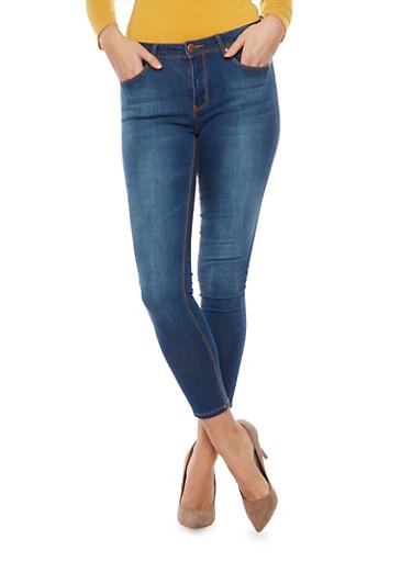 Five Pocket Skinny Jeans,MEDIUM WASH,large