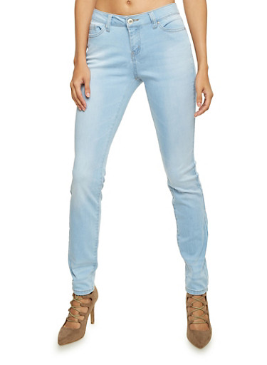 WAX Jeans with Light Whiskering,LIGHT WASH,large