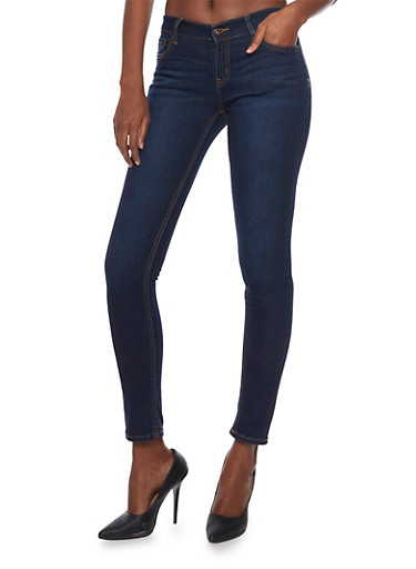 WAX Skinny Jeans,DARK WASH,large