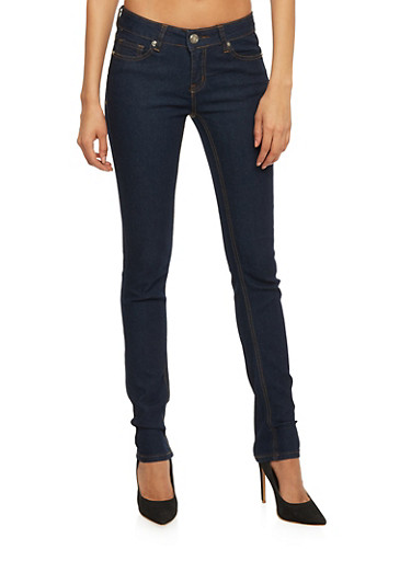 WAX Skinny Jeans with Five Pocket Design,RINSE,large