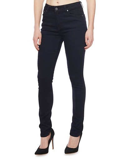 Classic Skinny Jeans,BLACK,large