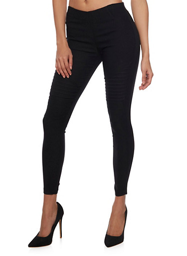 Moto Jeggings,BLACK,large