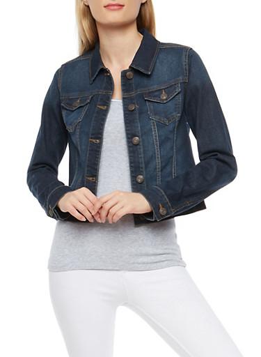 WAX Denim Jacket,DARK WASH,large