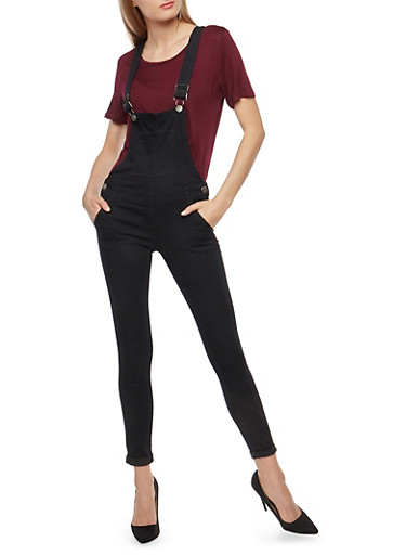 VIP Basic Black Overalls,BLACK,large