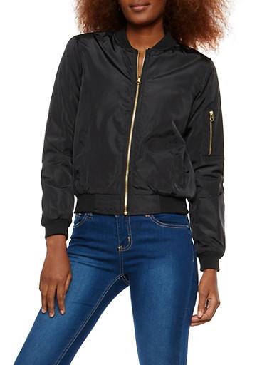 Basic Flight Jacket,BLACK,large