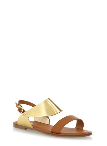 Slingback Open Toe Sandals with a Curved Arch,TAN,large