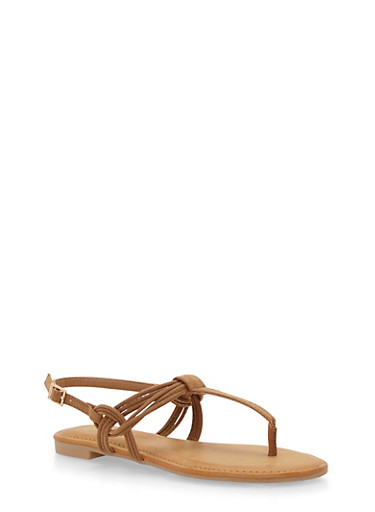 Thong Sandals with Multi Strap Detail,TAN F/S,large