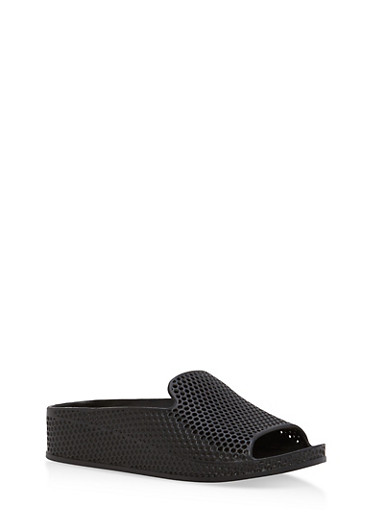 Perforated Jelly Slides,BLACK,large