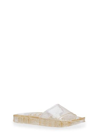 Glitter Jelly Slides,GOLD,large