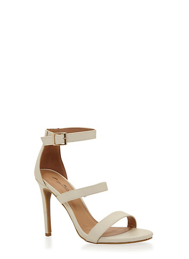 Strappy High Heel Sandals,IVORY,large