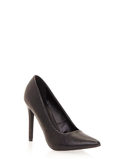 Pumps with Pointed Toes and Stiletto Heels,BLACK,large