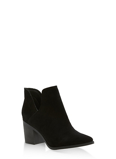 Side Cut Out Booties,BLACK,large