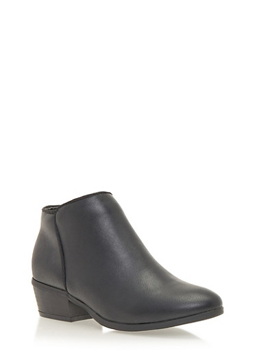 Ankle Boots with Side Seam,BLACK,large
