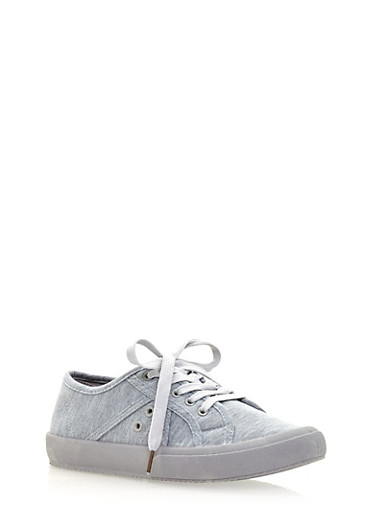 Lace Up Plimsoll Sneakers,HEATHER,large