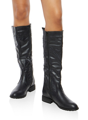 Tall Riding Boots,BLACK,large