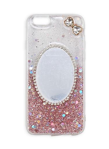 Glitter Rhinestone Mirror iPhone 6 Case,ROSE,large
