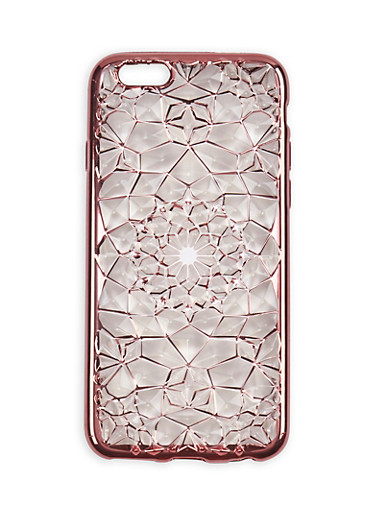 Textured Geometric iPhone 6 Case,MAUVE,large