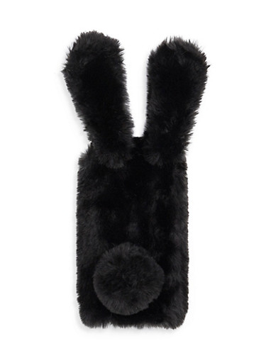 Fuzzy Bunny Ears iPhone 6 Case,BLACK,large