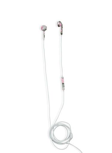 Pink Camo Earphones,PINK/GREY,large