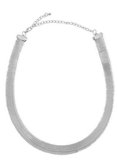 Coil Choker Necklace,SILVER,large