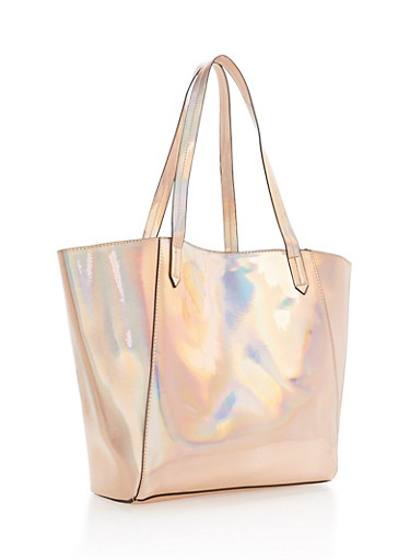 Holographic Tote Bag,ROSE,large