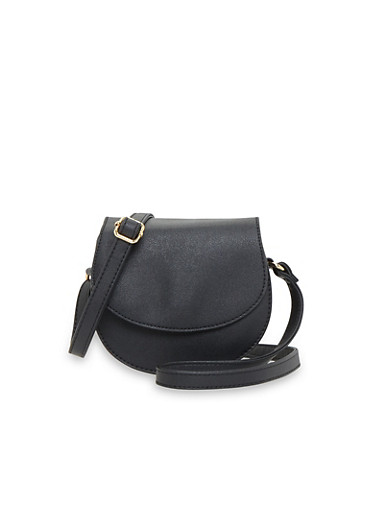 Small Faux Leather Crossbody Bag,BLACK,large