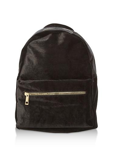 Velvet Backpack,BLACK,large
